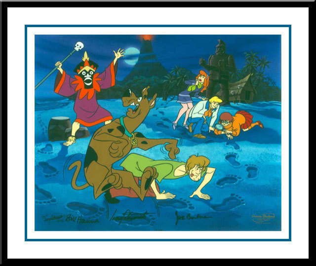 Hanna-Barbera Artwork Hanna-Barbera Limited Edition Hand-Painted Cel A Tiki Scare is No Fair