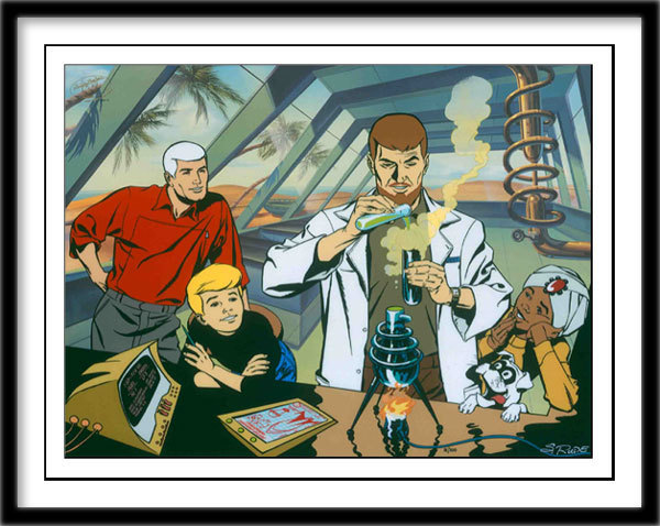 Hanna-Barbera Artwork Hanna-Barbera Limited Edition Hand-Painted Cel Quest Labs