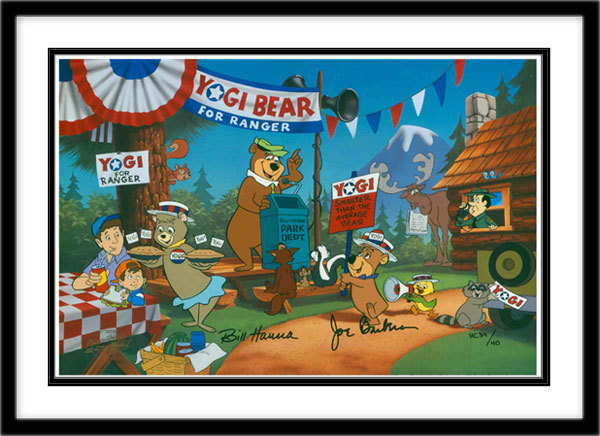 Hanna-Barbera Artwork Hanna-Barbera Limited Edition Hand-Painted Cel Yogi for Ranger