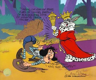Chuck Jones on Sale! Chuck Jones Limited Edition Hand-Painted Cel Sir Loin Of Beef