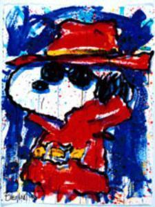 Tom Everhart Tom Everhart Limited Edition Lithograph Undercover in Hollywood