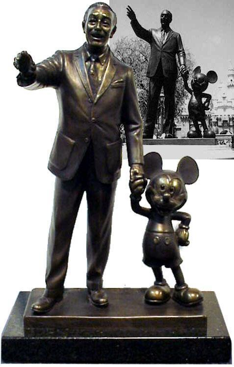 Mickey Mouse Artwork Walt Disney Sculpture Dreams Never End or Partners