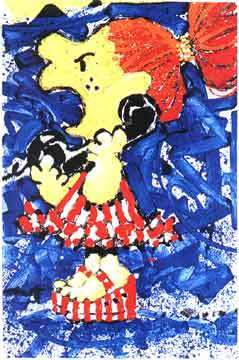 Tom Everhart Tom Everhart Limited Edition Lithograph 1-800 My Hair is Pulled Too Tight