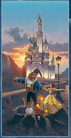 Beauty and the Beast Art Rodel Gonzalez Limited Edition Giclee on Canvas Sunset Waltz
