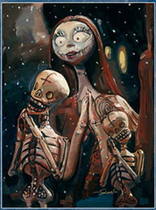 Jim Salvati Nightmare Before Christmas Artwork