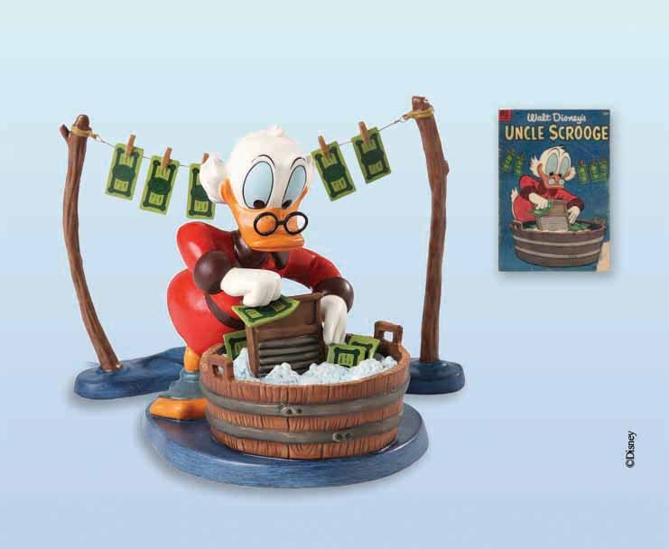 Scrooge McDuck Artwork WDCC Figurines Classics Collection Laundry Day Uncle Scrooge