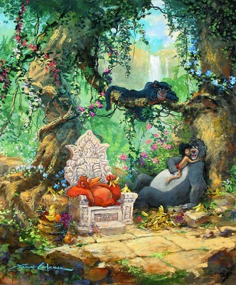 Jungle Book Artwork James Coleman Limited Edition Giclee on Canvas I Wanna Be Like You