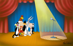 Bugs Bunny Animation Art Bugs Bunny Animation Art Speechless Cel - Tribute to Mel Blanc (Color Model)