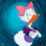 Daisy Duck Artwork Daisy Duck Artwork The Lady Will Have None Of It - Daisy Duck