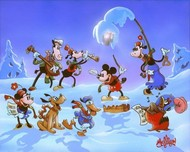 Mickey Mouse Artwork Mickey Mouse Artwork Mikey's Winter Symphony