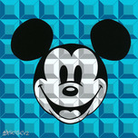 Mickey Mouse Artwork Mickey Mouse Artwork 8-Bit Block Mickey Aqua