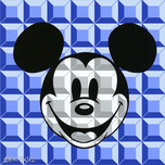 Mickey Mouse Artwork Mickey Mouse Artwork 8-Bit Block Mickey Blue
