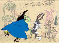 Witch Hazel Artwork by Chuck Jones Witch Hazel Artwork by Chuck Jones Bewitched Bunny 1954