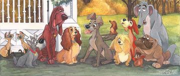 Lady and The Tramp Artwork Lady and The Tramp Artwork A Dog's Life