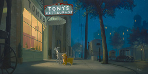 Lady and The Tramp Artwork Lady and The Tramp Artwork A Night with Lady