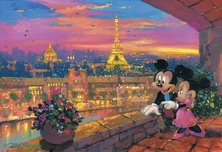 Mickey Mouse Artwork Mickey Mouse Artwork A Paris Sunset
