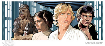 Star Wars Artwork Star Wars Artwork A New Hope: Escape