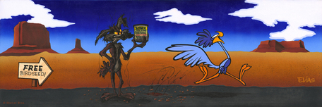 Road Runner Artwork Road Runner Artwork Acme Exploding Bird Seed