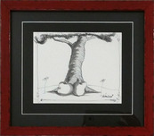Fabio Napoleoni Animation & Super Hero Art Afternoon Daydreaming (Original) - Framed
