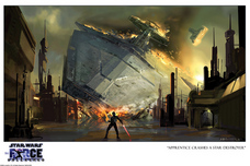 Star Wars Artwork Star Wars Artwork Apprentice Crashes Destroyer