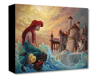 Little Mermaid Artwork Little Mermaid Artwork Ariel's Daydream - Treasures on Canvas