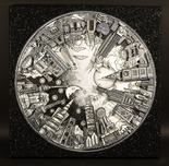 Charles Fazzino 3D Art Charles Fazzino 3D Art Around the World in Shades of Grey