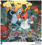 20th Century Fox Artwork 20th Century Fox Artwork Attack!  Bender vs Zoidberg