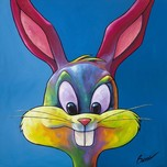 Bugs Bunny Animation Art Bugs Bunny Animation Art Bugs On Blue (SN)