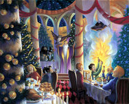 Harry Potter Artwork Harry Potter Artwork Christmas in the Great Hall