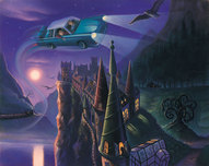 Harry Potter Artwork Harry Potter Artwork The Enchanted Car