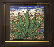 Charles Fazzino 3D Art Charles Fazzino 3D Art Cannabis on My Mind