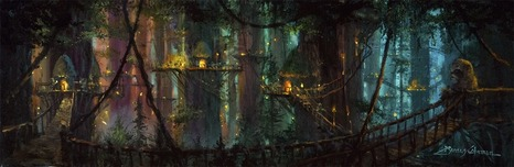 Star Wars Artwork Star Wars Artwork Ewok Village