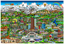 Charles Fazzino 3D Art Charles Fazzino 3D Art Colorado On My Mind (ALU)