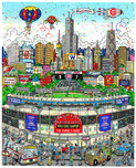 Charles Fazzino 3D Art Charles Fazzino 3D Art Wrigley Field: Home of the Cubbies (DX)