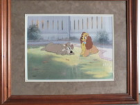 Lady and The Tramp Artwork Lady and The Tramp Artwork First Flirtation