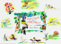 Road Runner Artwork Road Runner Artwork Daffy Duck for President
