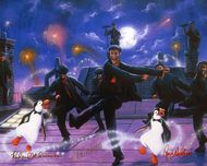 Mary Poppins Artwork Mary Poppins Artwork Dancing on the Rooftops