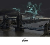 Harry Potter Artwork Harry Potter Artwork Dark Mark Over London