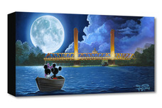 Mickey Mouse Artwork Mickey Mouse Artwork Drifting in the Moonlight - Treasures on Canvas
