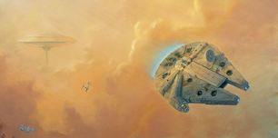Star Wars Artwork Star Wars Artwork Escape From Cloud City (SN)