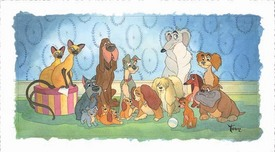 Lady and The Tramp Artwork Lady and The Tramp Artwork Family Portrait