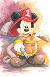 Mickey Mouse Artwork Mickey Mouse Artwork Fireman Mickey
