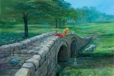 Winnie the Pooh Artwork Winnie the Pooh Artwork Fishing with Friends