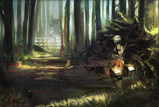 Star Wars Artwork Star Wars Artwork Forest Trooper