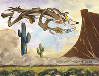 Road Runner Artwork Road Runner Artwork Desert Duo - Wile E. Coyote