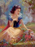 Snow White Artwork Snow White Artwork Gathering Flowers