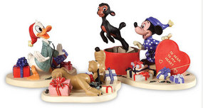 Mickey Mouse WDCC Figurines Mickey Mouse WDCC Figurines Mickey, Donald and Pluto - A Heartfelt Surprise - Not a creature was stirring...