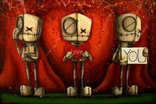 Fabio Napoleoni Fabio Napoleoni I Love You - Red (OE) Mini Print