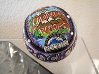 Charles Fazzino 3D Art Charles Fazzino 3D Art Colorado Rockies Baseball (Ball)