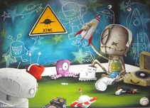 Fabio Napoleoni Fabio Napoleoni Imagination is My Bestest Friend (Original) - Gallery Wrapped